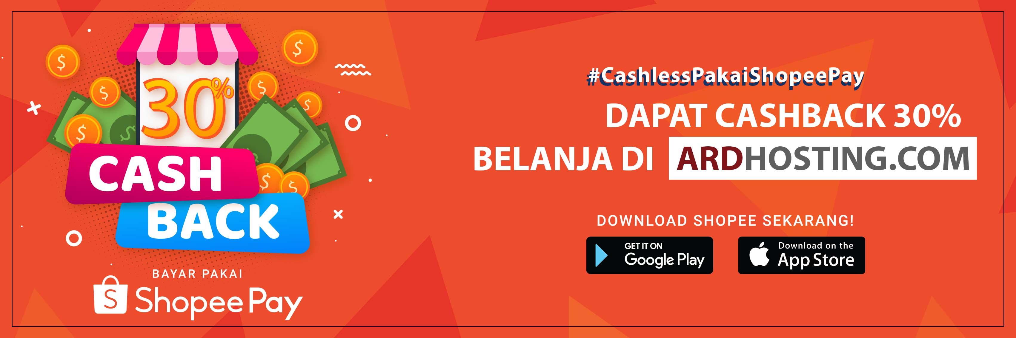 Promo Shopeepay Cashback 30 Ardhosting
